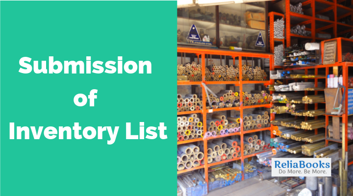 Submission of Inventory List